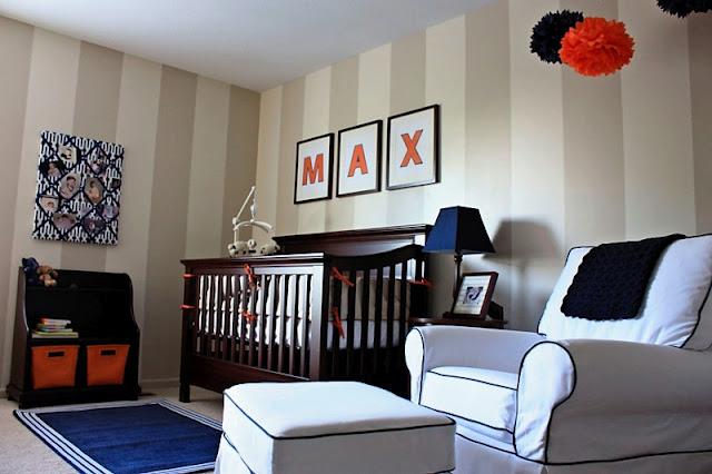 Jolie chambre marron bleu orange cerise et petits pois - Chambre orange marron ...