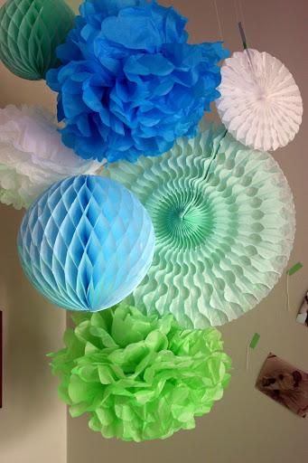 Anniversaire { vert d'eau, turquoise, bleu pâle, blanc }