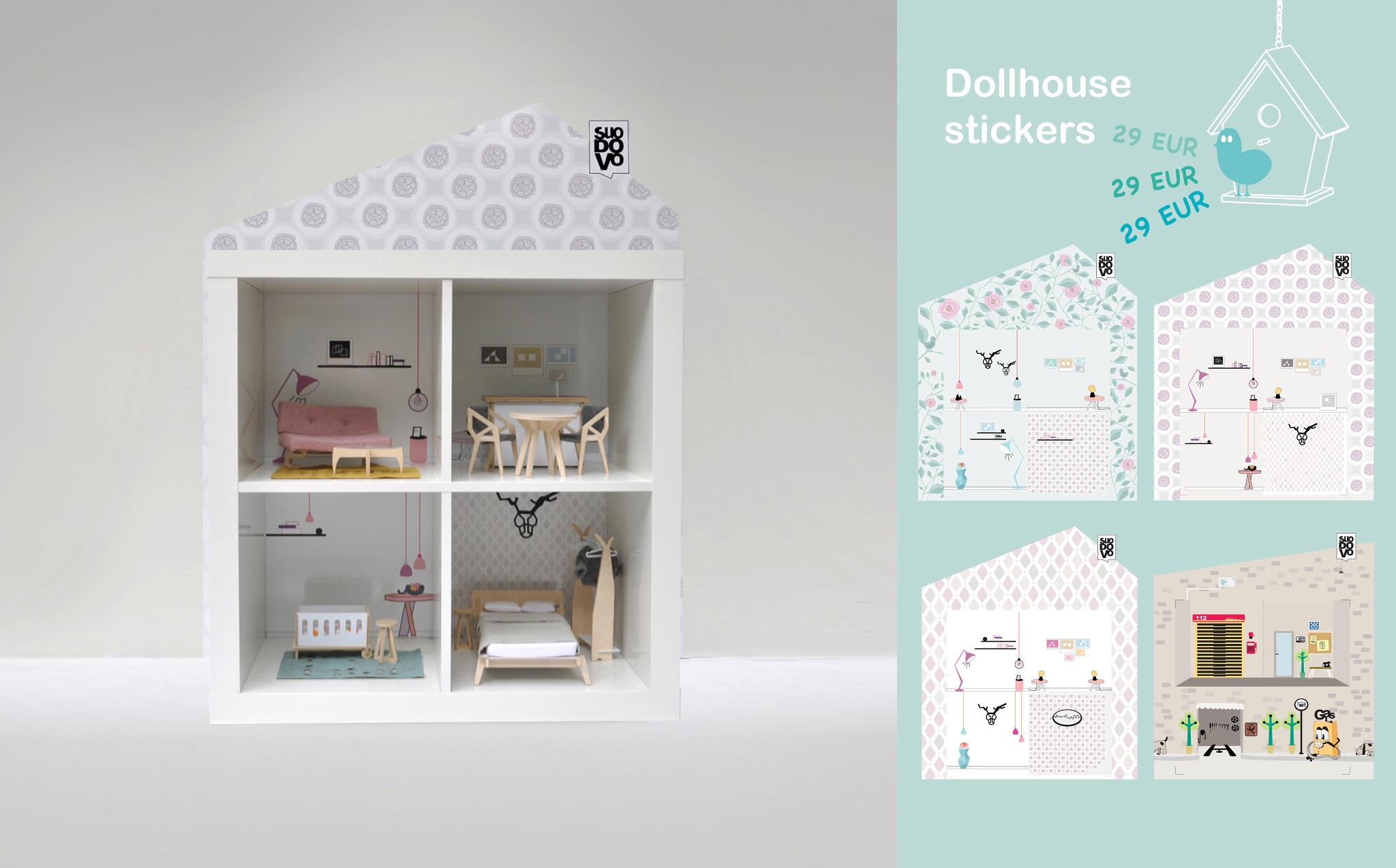 joli jouet maison de poup e cerise et petits pois. Black Bedroom Furniture Sets. Home Design Ideas